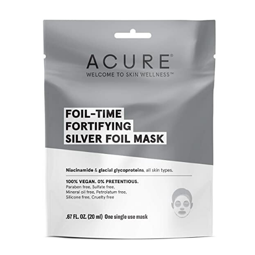Acure Foil-Time Fortifying Silver Foil Face Mask 20 ml