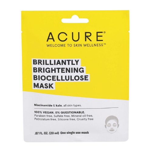 Acure Brilliantly Brightening Biocellulose Mask Single Use