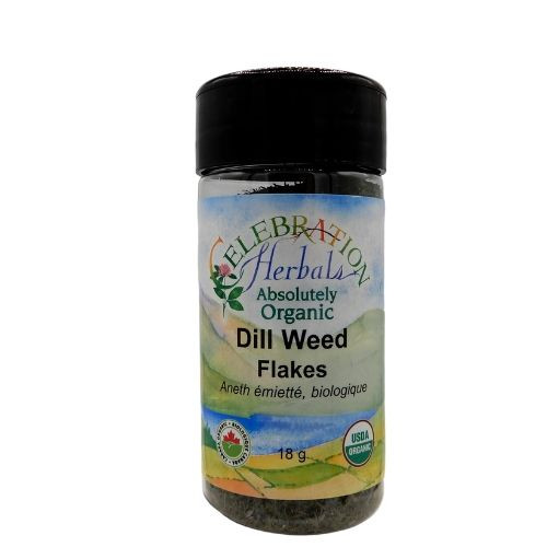 Celebration Herbals Organic Dill Weed Flakes.