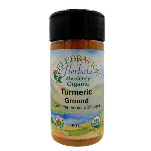 Celebration Herbals Organic Tumeric Ground.