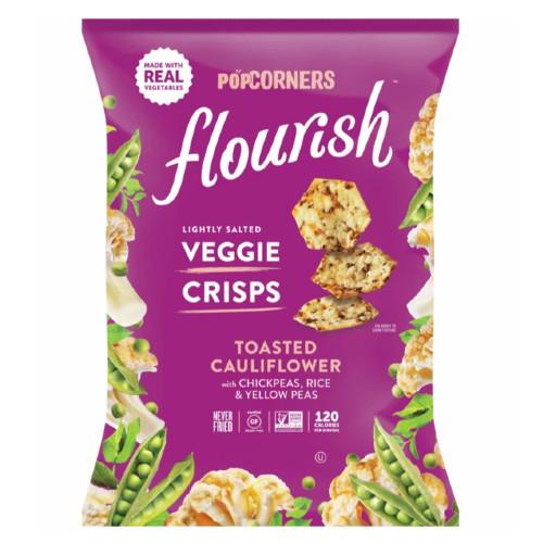 Popcorners Flourish Slightly Salted Veggie Crisps Toasted Cauliflower.