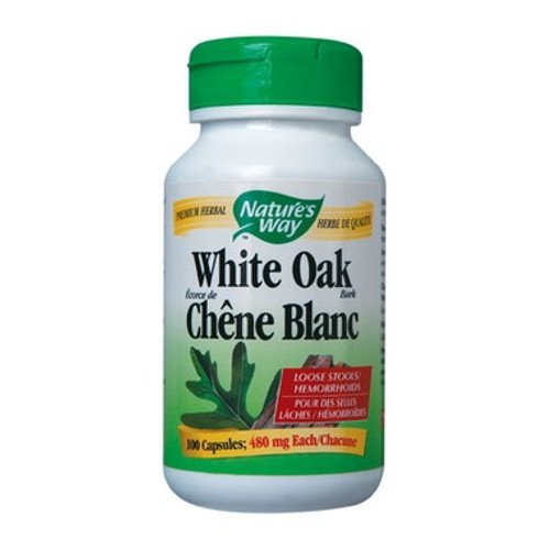 Nature's Way White Oak Bark for relief of diarrhea the natural way.  100 caps.