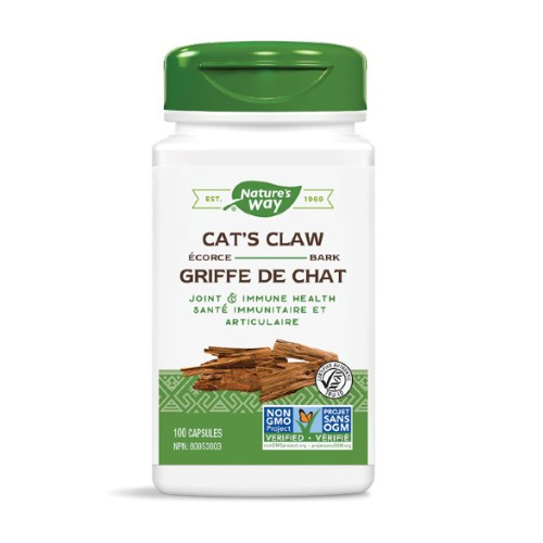 Nature's Way Cats Claw Bark helps all types of arthritis as it reduces swelling.  Also detoxes the intestinal tract to treat bowel disorders.  100 caps.