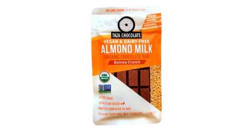 Taza Chocolate Almond Milk Organic Chocolate Bar Quinoa Crunch
