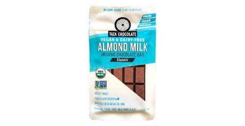 Taza Chocolate Vegan & Dairy Free Almond Milk Organic Chocolate Bar Classic