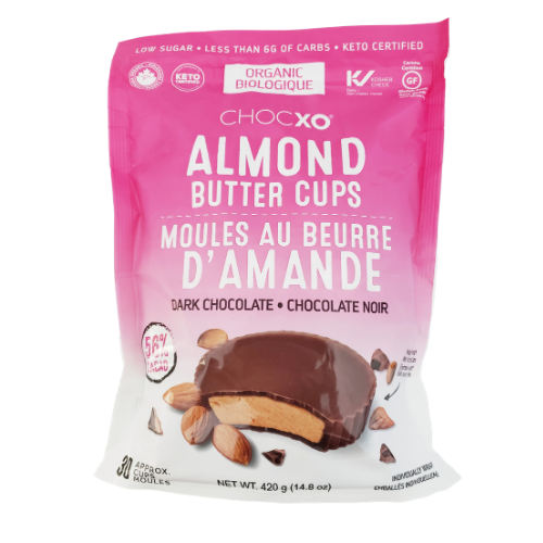 ChocXO Organic Almond Butter Cups