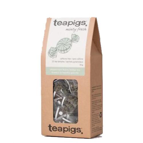 teapigs. Peppermint Herbal Tea, whole leaf tea. 15 tea bags