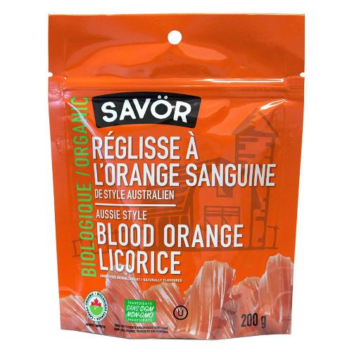 Savör Organic Aussie Style Blood Orange Licorice 200 grams