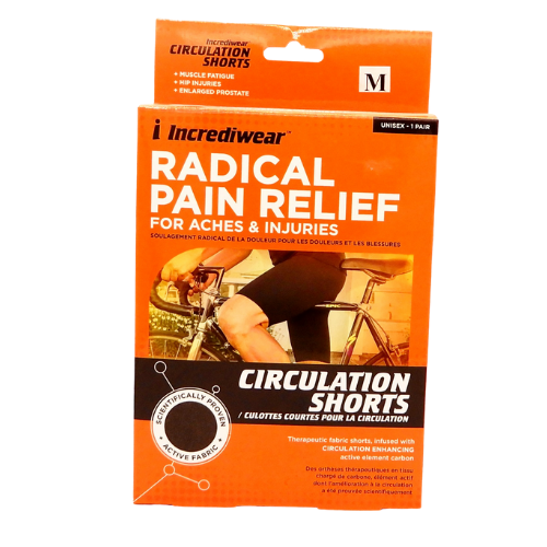 Incrediwear Circulation Shorts Radical Pain Relief Medium Black Unisex