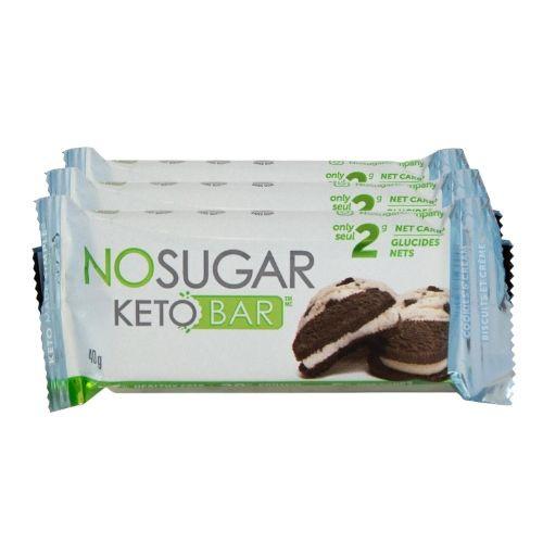 NO SUGAR Cookies and Cream Keto Bar