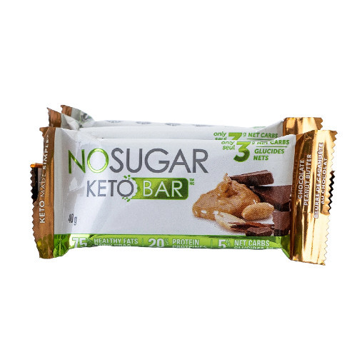 NO SUGAR Chocolate Peanut Butter Keto Bar