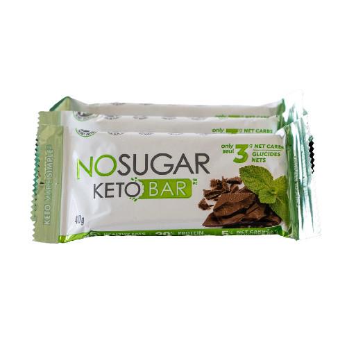 NO SUGAR Chocolate Mint Keto Bar