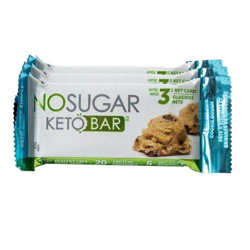 NO SUGAR Chocolate Chip Cookie Dough Keto Bar