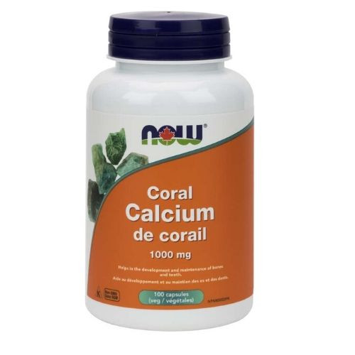 NOW Coral Calcium 1000 mg 100 capsules