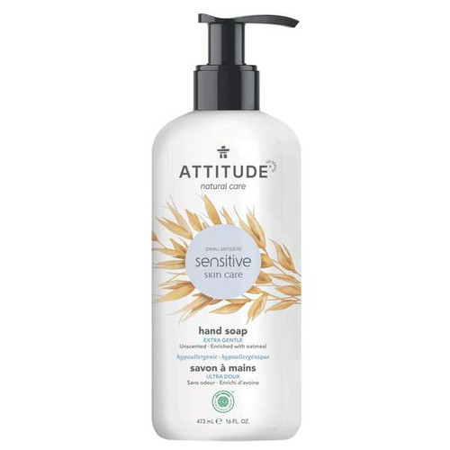Attitude Natural Hand Soap Extra Gentle Scent Free 473 ml