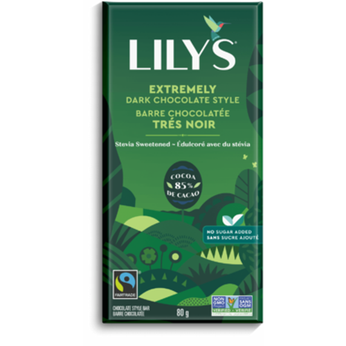 Lily's Extremely Dark Chocolate Style no sugar added chocolate style bar