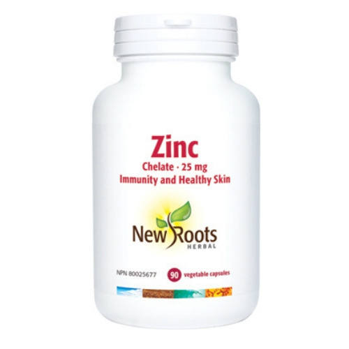 New Roots Zinc Chelate 25 mg 90 vegetable caps