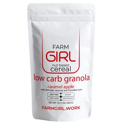 Farm Girl Nut Based Cereal Low Carb Granola Caramel Apple 420 grams