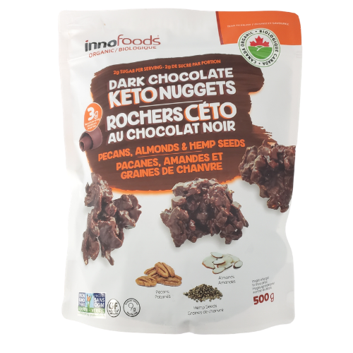 Innofoods Dark Chocolate KETO Nuggets 500 grams