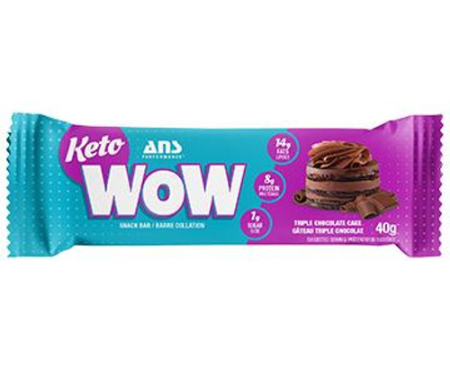 ANS Performance Keto WOW Triple Chocolate Cake Snack Bar 40 grams