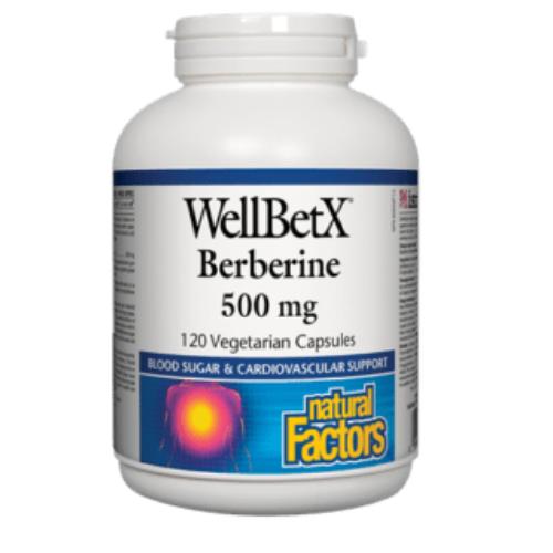 Natural Factors WellBetX Berberine 500 mg 120 vegetarian capsules