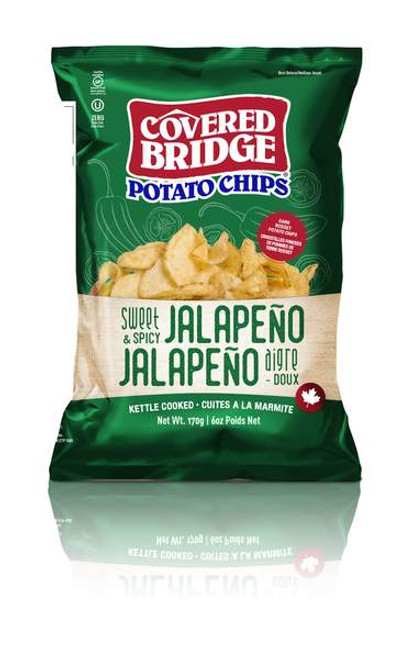 Covered Bridge Sweet & Spicy  Jalapeno Potato Chips 170 grams