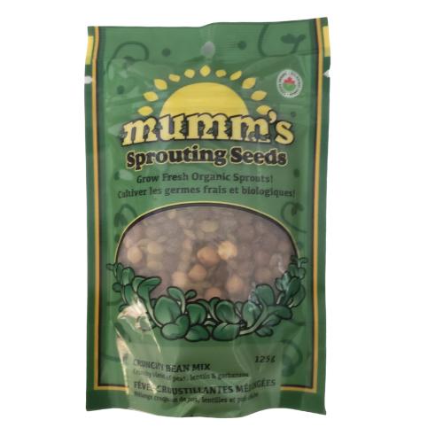 Mumm's Sprouting Seeds Organic Crunchy Bean Mix 125 grams