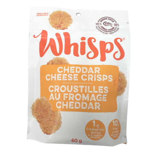 Cello Whisps Cheddar Cheese 60 grams