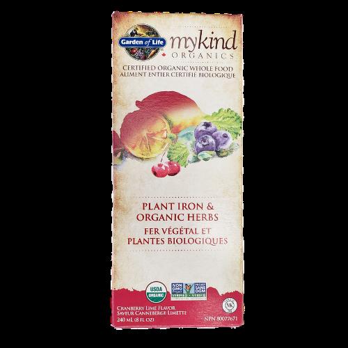 Garden of Life myKind Organics Plant Iron & Organic Herbs 240 ml