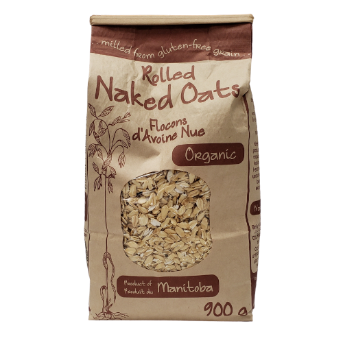 Adagio Acres Organic Rolled Naked Oats Gluten Free 900 grams