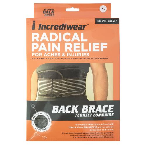 Incrediwear Back Brace Unisex XL