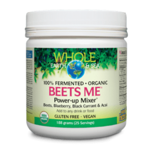 Natural Factors Whole Earth & Sea Beets Me Power-Up Mixer Fermented Organic 188 grams Canada