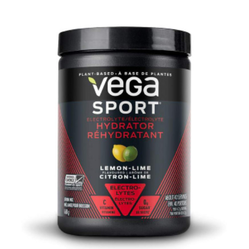 Vega Sport Electrolyte Hydrator in a lemon lime flavour for replenish your electrolytes, minerals and antioxidants after a workout or even throughout the day.  168 grams. NEW LOOK