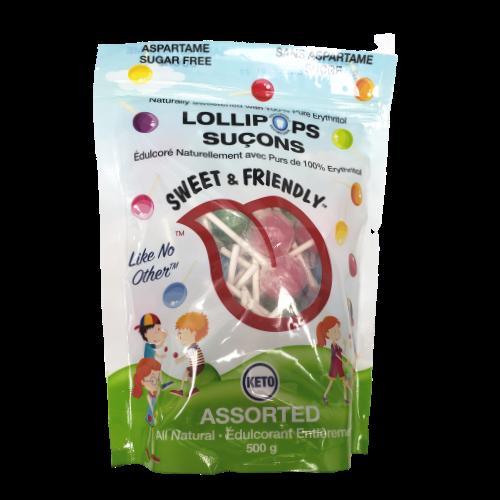 Sweet & Friendly Assorted Lollipops 500 grams no sugar