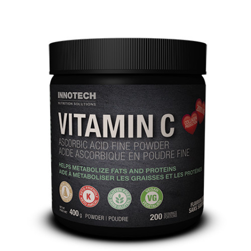 Innotech Vitamin C fine powder for the maintenance of good health.  400 grams