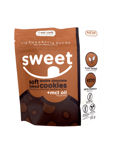 Sweet Nutrition Soft Baked Double Chocolate Cookies +MCT Oil