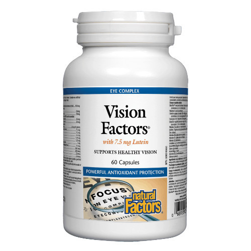 Natural Factors Vision Factors with lutein helps to support healthy vision.  60 caps