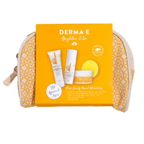 Derma E Brighten & Go Clean Beauty Travel Kit