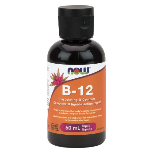 Now B-12, vitamin B complex helps in tissue formation, supports cellular energy production.  60 ml