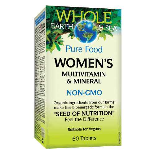 Natural Factors Whole Earth & Sea Women's Multivitamins and Minerals  60 tablets.