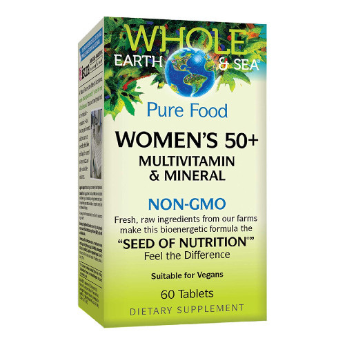 Natural Factors Whole Earth & Sea Women's 50+ Multivitamin and Mineral 60 tabs Canada