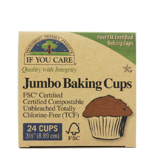 If You Care Jumbo Baking Cups for jumbo muffin tin.  24 cups at 3 1/2 inches or 8.89 cm (top of muffin cup).
