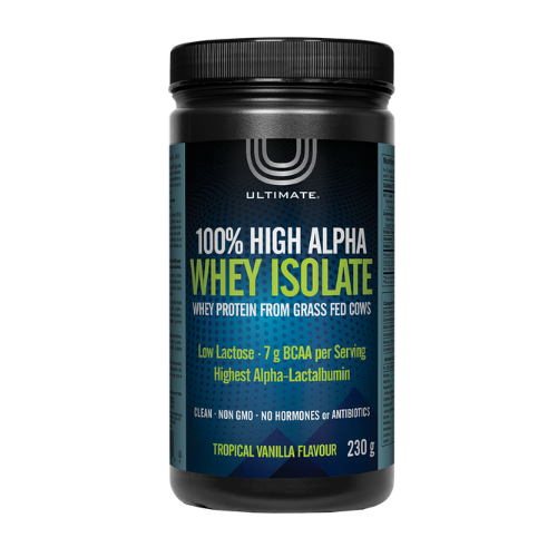 Ultimate 100% High Alpha Whey Isolate Whey Protein Tropical Vanilla Flavour 230 grams