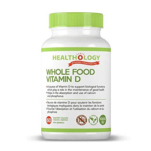 Healthology Whole Food Vitamin D 60 vegetable capsules