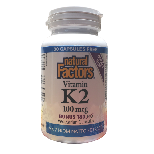 Natural Factors  Bonus Size Vitamin K2 100 mcg 180 capsules