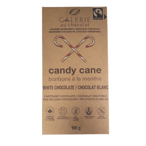 Galerie Au Chocolat Candy Cane White Chocolate 100 grams