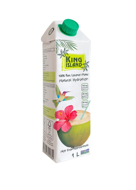 King Island 100% Pure Coconut Water Natural Hydration 1 litre