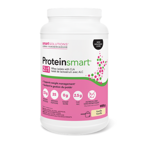 Smart Solutions Lorna Vanderhaeghe Vanilla Proteinsmart Whey Isolate with CLA 908 grams