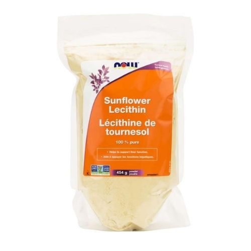 NOW Sunflower Lecithin Powder 454 grams