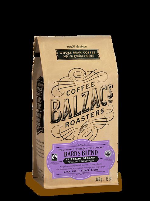 Balzac's Coffee Roasters Fairtrade Organic Bards Blend 340 Grams